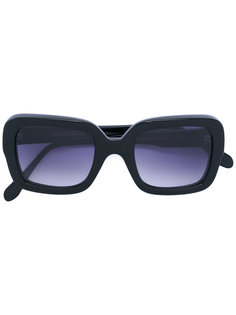 blue tinted square sunglasses Cutler & Gross