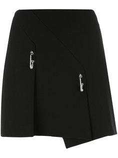 короткая юбка с булавками Versus