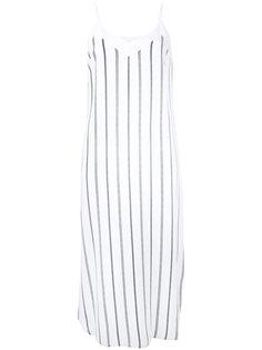 полосатое платье с V-образным вырезом Equipment