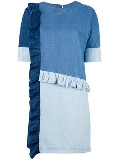 джинсовое платье лоскутного кроя Steve J & Yoni P
