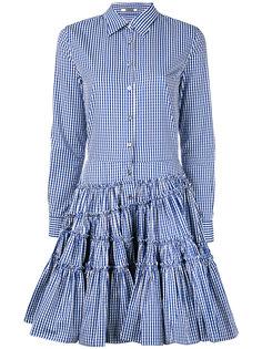 клетчатое платье с пышной юбкой Jourden