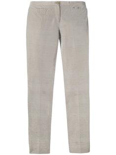 узкие текстурные брюки Romeo Gigli Vintage
