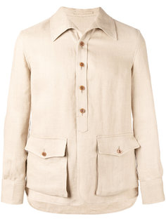куртка-рубашка с накладными карманами Lardini