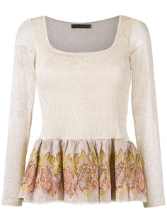 knitted peplum blouse Cecilia Prado