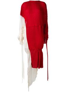 плиссированное платье с талией на шнурке Marni