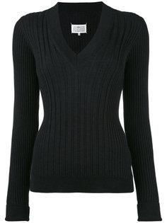вязанный приталенный свитер Maison Margiela