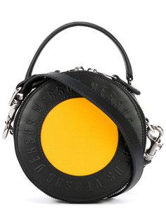 круглый клатч с логотипом Versus