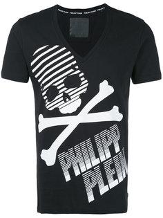 футболка с принтом черепа и логотипа Philipp Plein