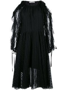 платье с бахромой Philosophy Di Lorenzo Serafini