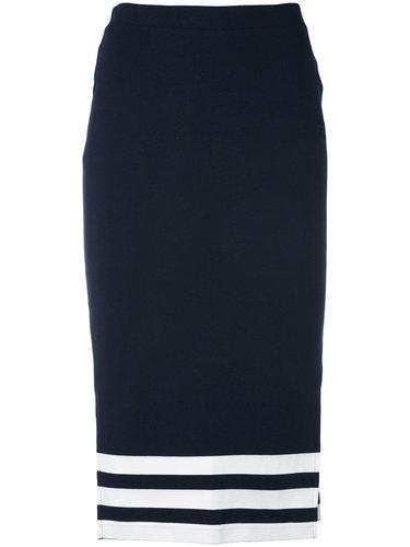 юбка миди с полосатым принтом Adidas