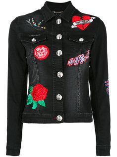 джинсовая куртка с вышивкой Philipp Plein
