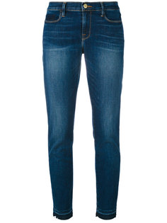 укороченные джинсы с эффектом потертости Frame Denim