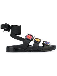 сандалии с цветочными элементами Tory Burch