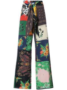 брюки с платочным принтом Osklen