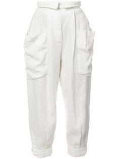 укороченные зауженные брюки Osklen