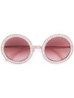 солнцезащитные очки с отделкой стразами Dolce & Gabbana