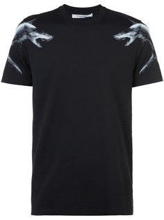 футболка прямого кроя с акулами Givenchy