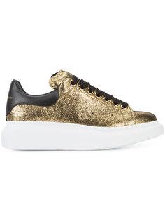 кроссовки с металлическим блеском Alexander McQueen