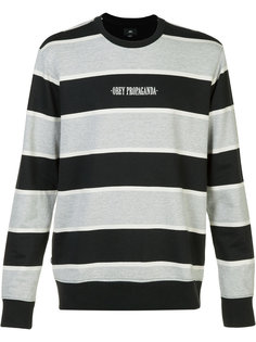 striped logo sweatshirt  Obey