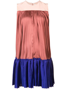 blockcolour pleated dress Roksanda