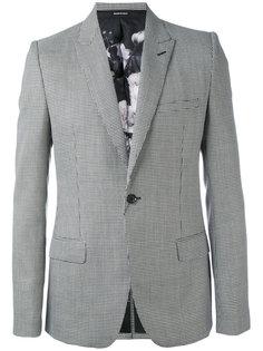пиджак с узором в ломанную клетку Alexander McQueen