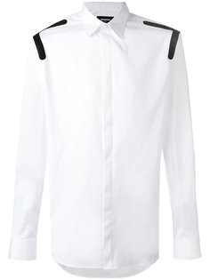 рубашка с контрастными вставками на плечах Dsquared2