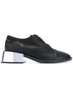 туфли на контрастном каблуке Mm6 Maison Margiela
