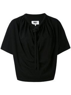 блузка с завязками на воротнике Mm6 Maison Margiela