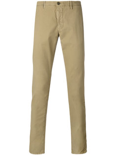 узкие брюки-чинос Incotex