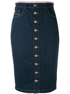 джинсовая юбка на пуговицах Diesel
