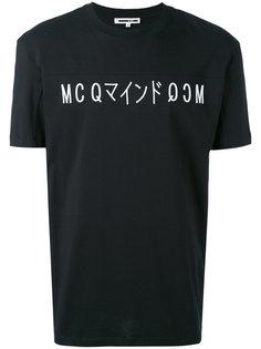 футболка с принтом логотипа  McQ Alexander McQueen