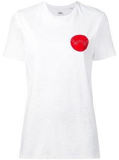 футболка с контрастным принтом  Edwin