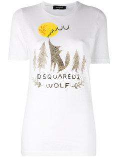футболка с вышивкой Dsquared2