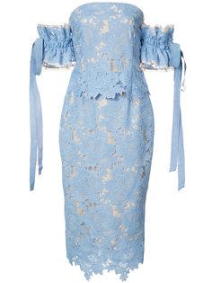 кружевное платье миди Rebecca Vallance