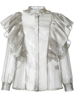 прозрачная блузка с оборкам Fleamadonna