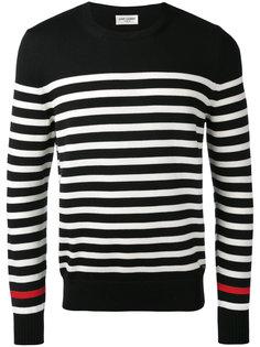 трикотажный свитер в полоску Saint Laurent