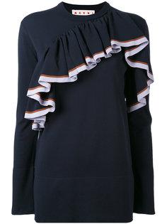 трикотажный свитер с оборками Marni