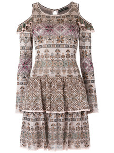 knit ruffled dress Cecilia Prado