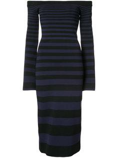 полосатое облегающее платье Rebecca Vallance