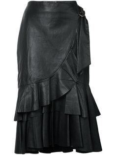 юбка с оторочкой из рюшей Rebecca Vallance