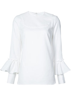 ruffled sleeves blouse  Rebecca Vallance