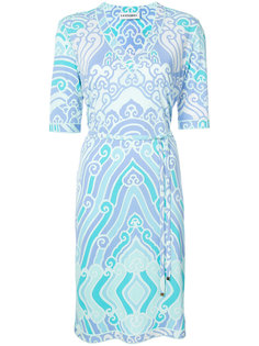 printed V-neck dress  Leonard