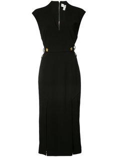 v-neck fitted dress Rebecca Vallance