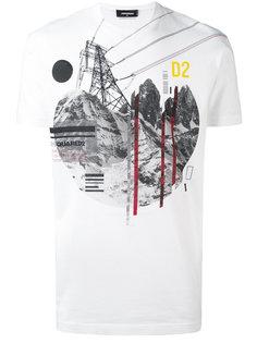 футболка с графическим принтом Dsquared2
