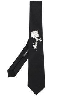 галстук с розой Alexander McQueen