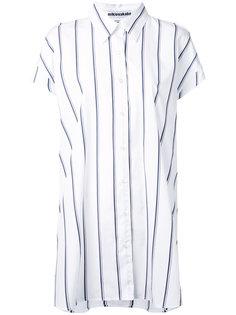 удлиненная рубашка в полоску Mikio Sakabe