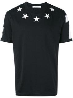 футболка с вышитыми звездами Givenchy