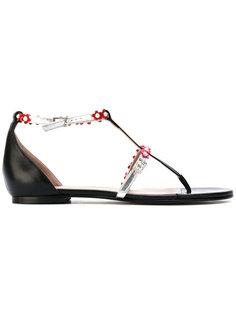 сандалии с цветочными деталями Gianna Meliani