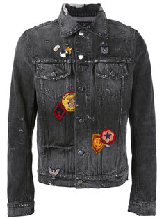 джинсовая куртка с нашивками Amiri