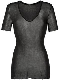 sheer design blouse Osklen